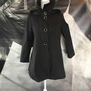 Via Spiga black trench coat